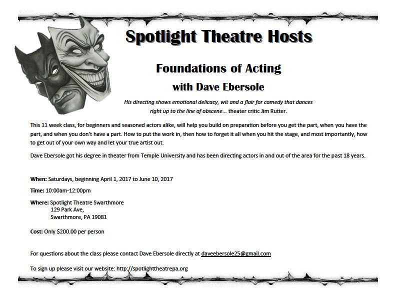 Foundations of Acting 03-062017